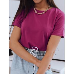 Dámske jednofarebné tričko fuchsiové