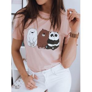 Dámske pudrovo ružové tričko CUTE