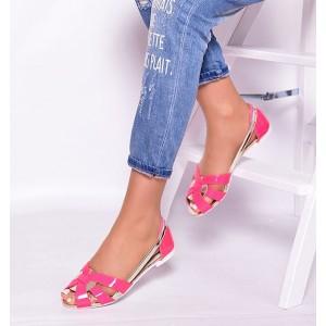 Letné dámske sandále v ružovej farbe