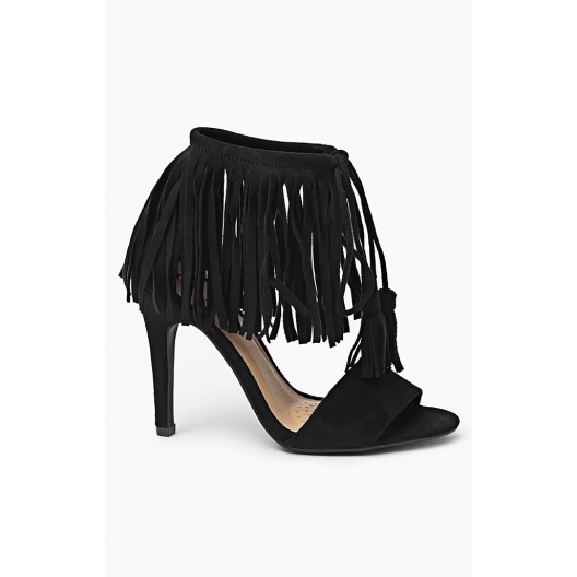 Letné dámske sandále čierne s viazaním okolo nohy