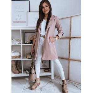 Krásny dámsky ružový kabát