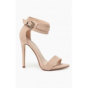 Sandále na vysokom opätku béžovej farby