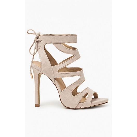 Letné dámske sandálky béžovej farby