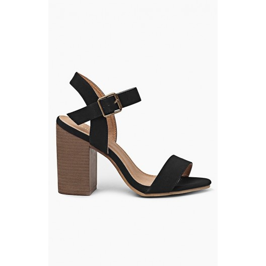 Čierne dámske sandále so zapínaním na boku