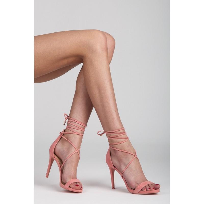 c002a158ebe6 Štýlové dámske sandále v ružovej farbe na šnurovanie - fashionday.eu