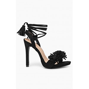 Elegantné čierne sandále pre ženy
