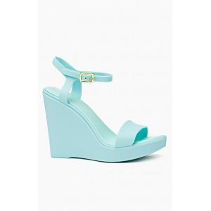 Sandále na platforme svetlo modrej farby