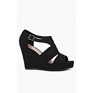 Čierne dámske sandále na platforme