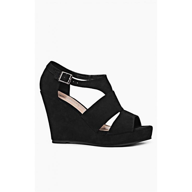 92f5fd147e59 Čierne dámske sandále na platforme - fashionday.eu