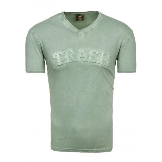Pánske tričká krátky rukáv zelenej farby
