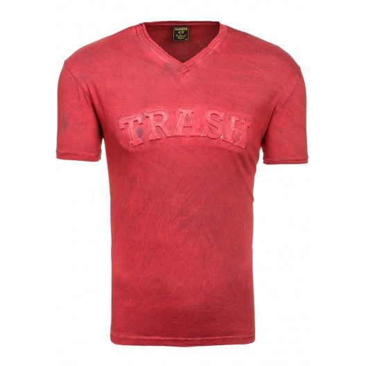 TRASH pánske tričko v červenej farbe