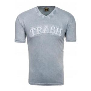 Moderné pánske tričko v sivej farbe s nápisom