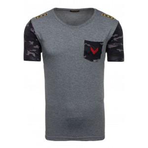 Tričko s krátkym rukávom v tmavosivej farbe