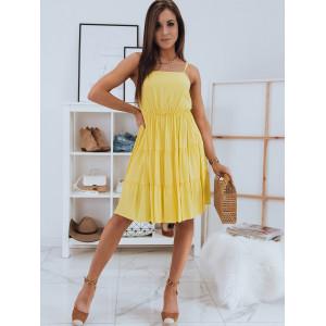 Krásne letné šaty v žltej farbe