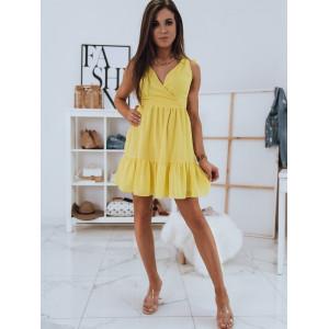 Romantické šaty v žltej farbe