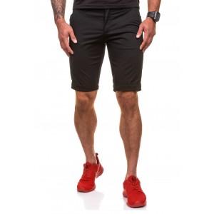 Štýlové pánske šortky v čiernej farbe