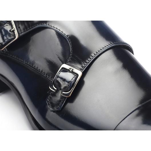 Lakované čierne kožené mokasíny s prackami COMODO E SANO