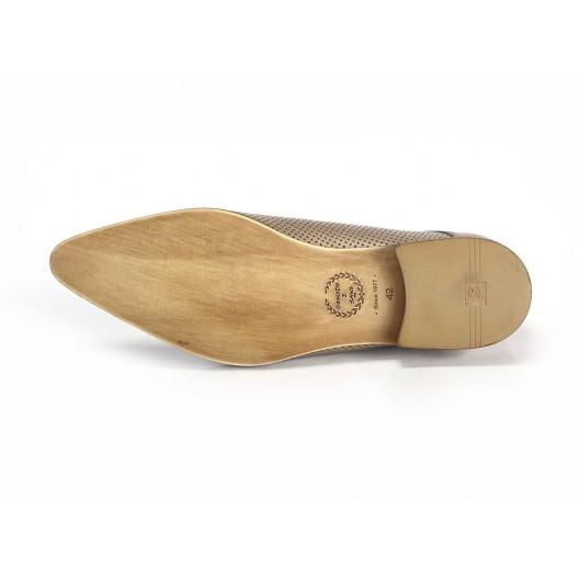 Pánske kožené svetlo hnedé spoločenské topánky COMODO E SANO