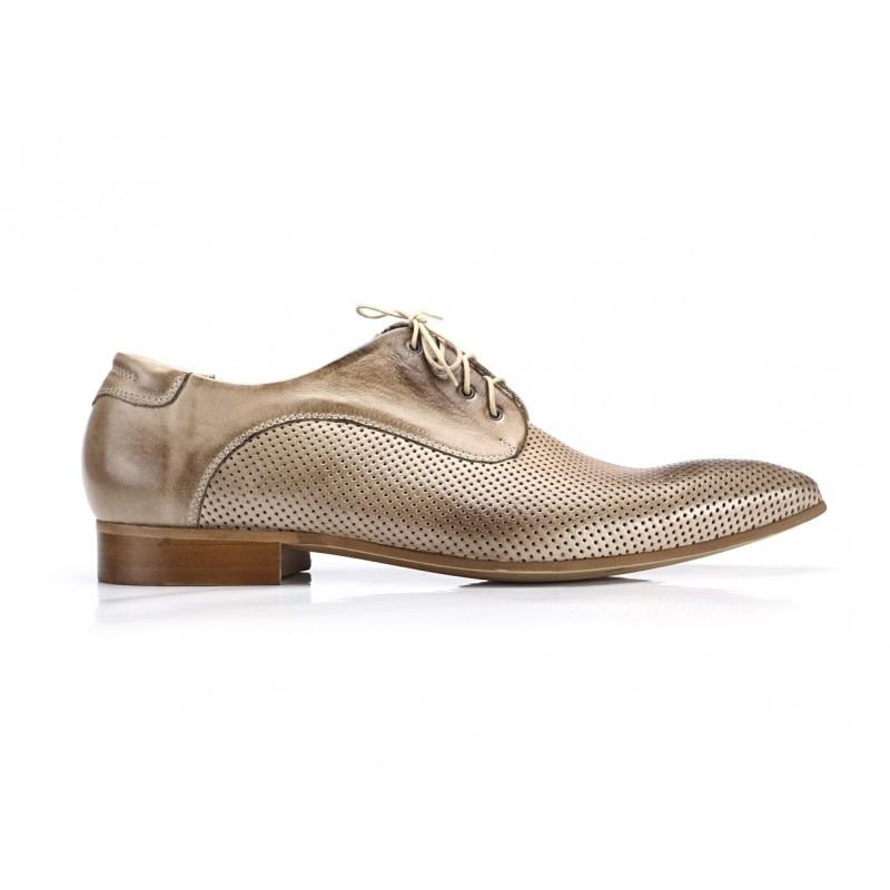 ... topánky COMODO E SANO · Pánske kožené svetlo hnedé spoločenské ... 73f95dae457