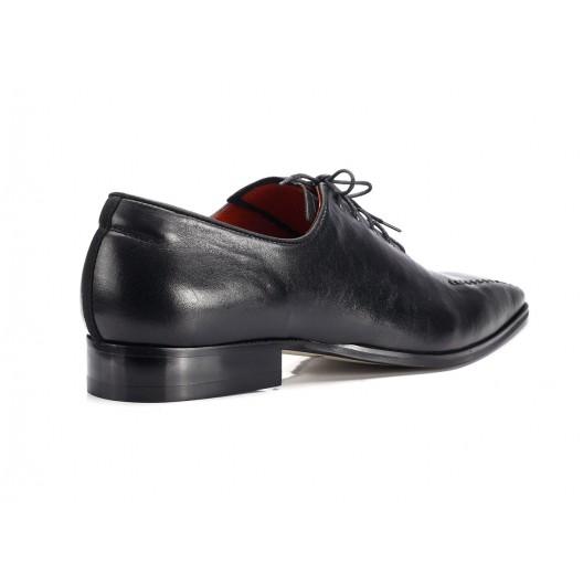 Pánska elegantná kožená obuv COMODO E SANO čiernej farby