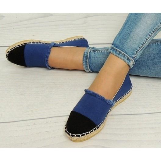 Espadrilky pre dámy v modro čiernej farby