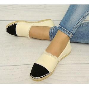 Dámska obuv na leto béžovo čiernej farby