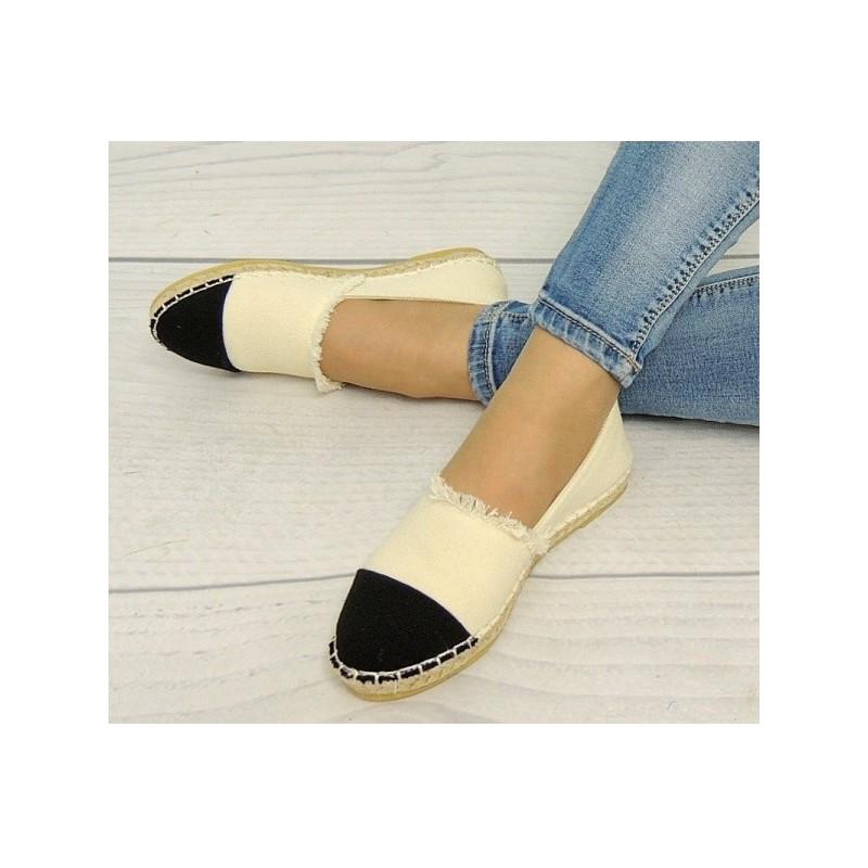 35bfe0aa41 Dámska obuv na leto béžovo čiernej farby - fashionday.eu