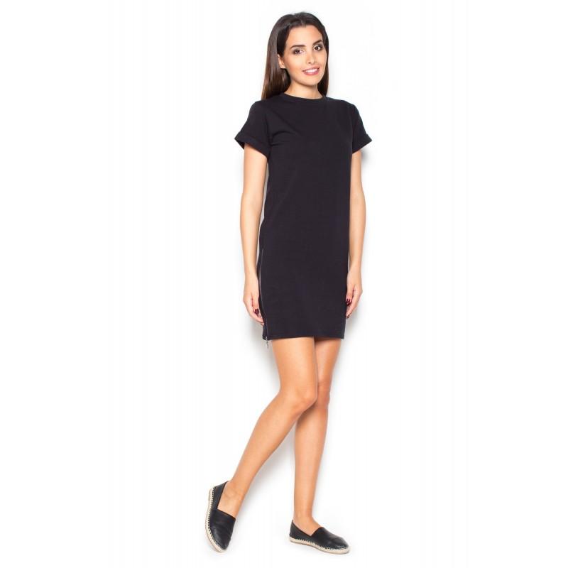 489f437a8914 Predchádzajúci. Čierne dámske letné šaty do práce ...