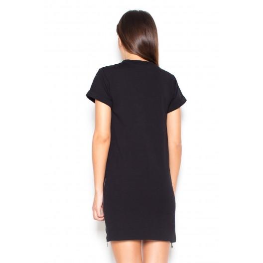 Čierne dámske letné šaty do práce