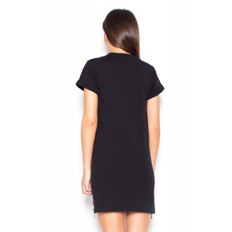 be1973df45a8 Čierne dámske letné šaty do práce  Čierne dámske letné ...