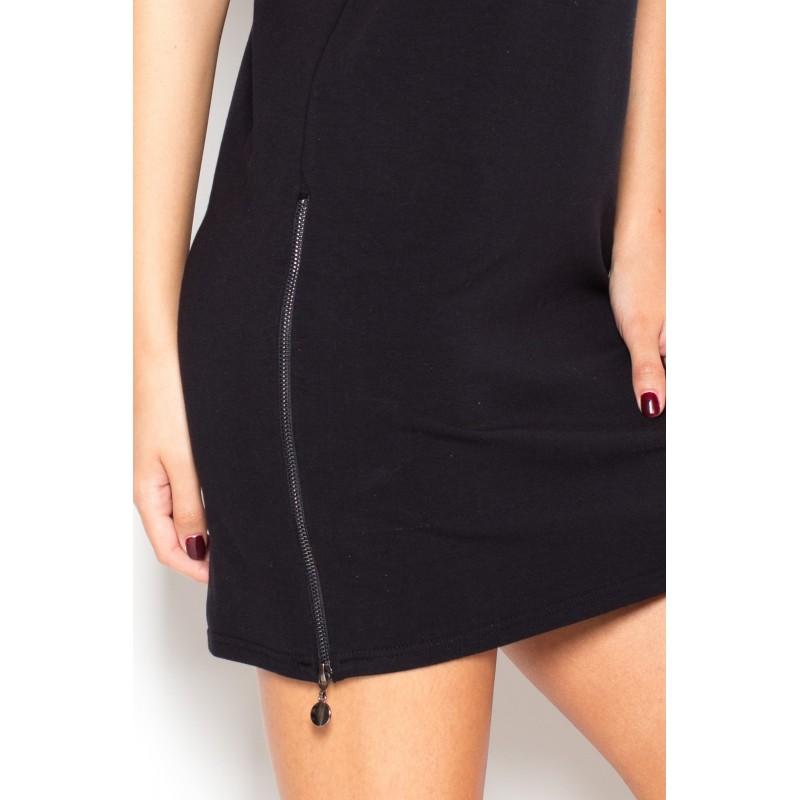 807d141e23ea Čierne dámske letné šaty do práce - fashionday.eu