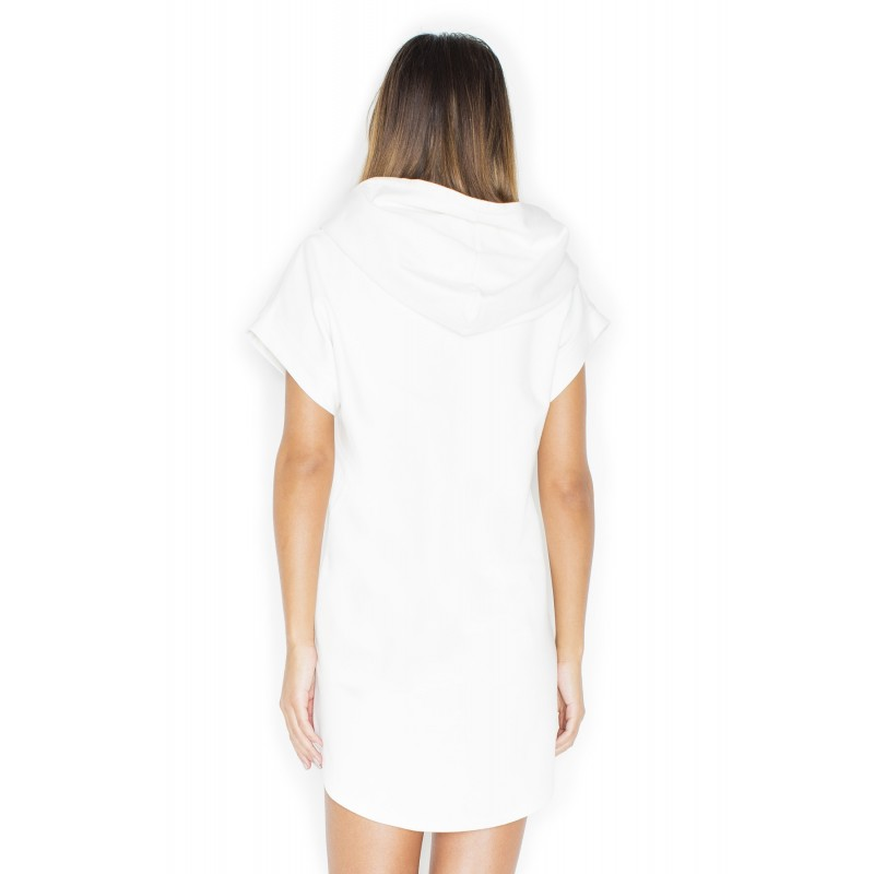 04dadaddc11c Módne biele dámske šaty s kapucňou - fashionday.eu