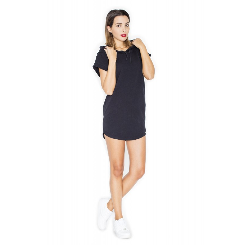 062150f3f705 Krásne dámske šaty čiernej farby na leto s kapucňou - fashionday.eu