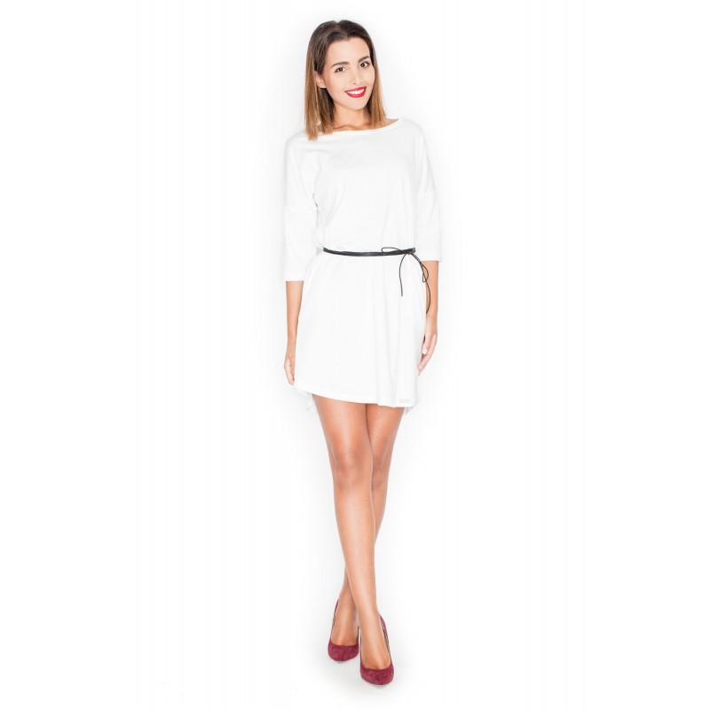 Letné šaty biele pre ženy s čiernym opaskom - fashionday.eu 86922663c4f