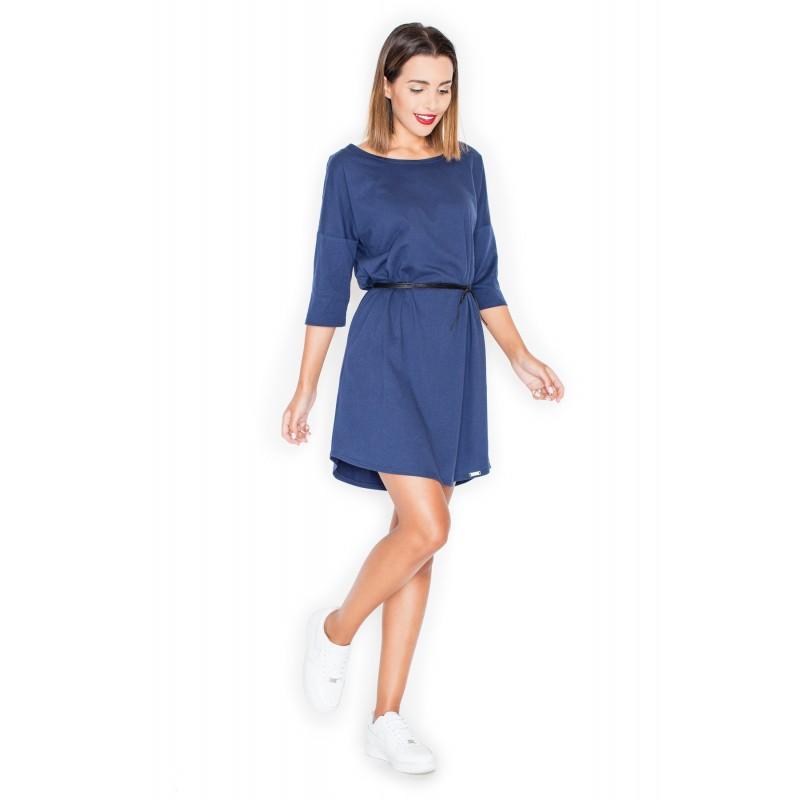 e9f2701c1 Dámske letné šaty modrej farby s opaskom - fashionday.eu