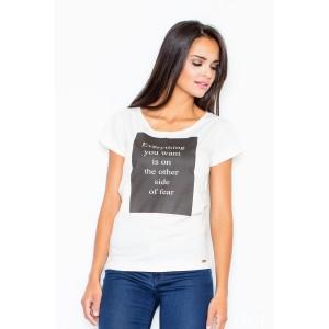 Dámske tričko v bielej farbe s krátkym rukávom