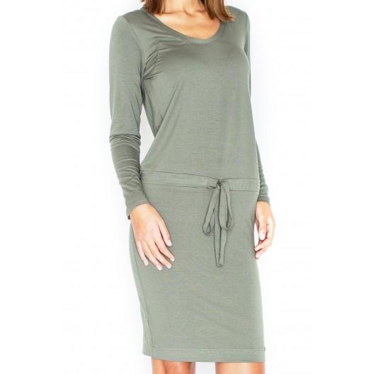 Dámske exkluzívne šaty zelenej farby s dlhým rukávom