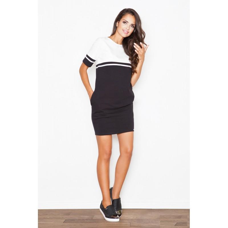 2f133adc3 Športové dámske šaty čierno biele - fashionday.eu