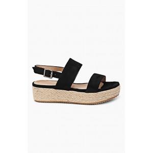 Dámske sandále čiernej farby so zapínaním na boku