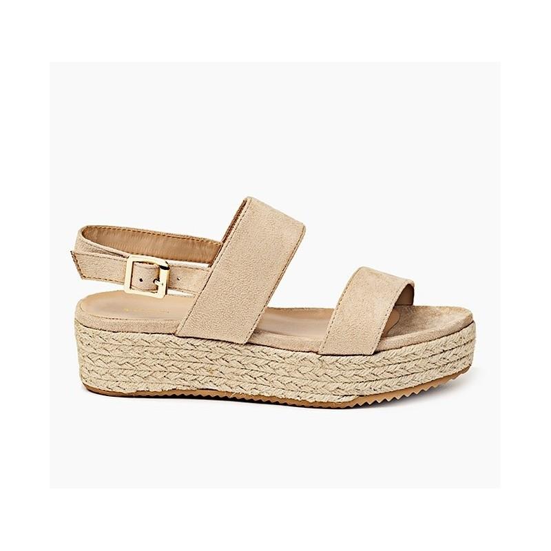 bb6ad830b6ad Letné dámske sandále v béžovej farbe s hrubou podrážkou - fashionday.eu