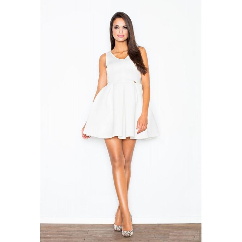 b4a85522cb72 Predchádzajúci. Dámske spoločenské šaty biele áčkového strihu ...