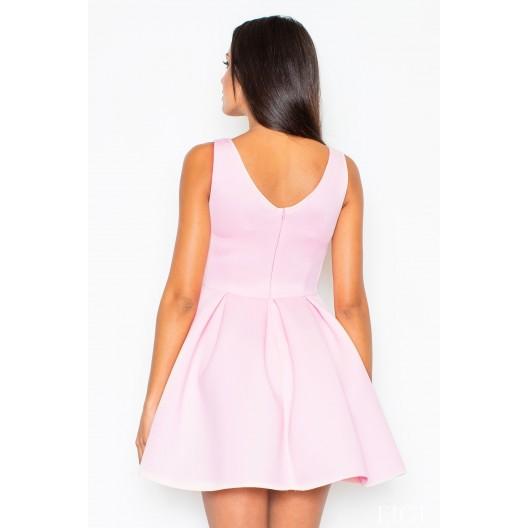 Dámske šaty na svadbu áčkového strihu v ružovej farbe