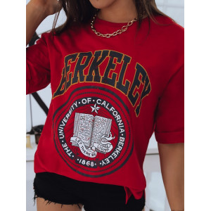 Krásne dámske tričko v červenej farbe s potlačou