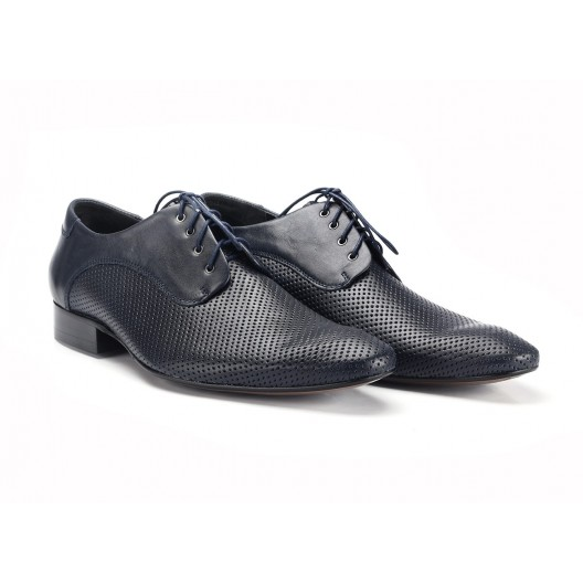 COMODO E SANO elegantná pánska kožená obuv čiernej farby