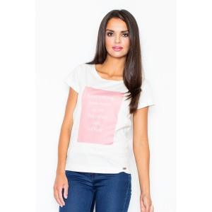 Dámske tričko bielej farby s citátom