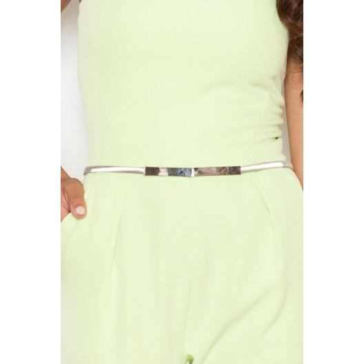 Luxusný dámsky overal v svetlo zelenej farbe bez ramienok