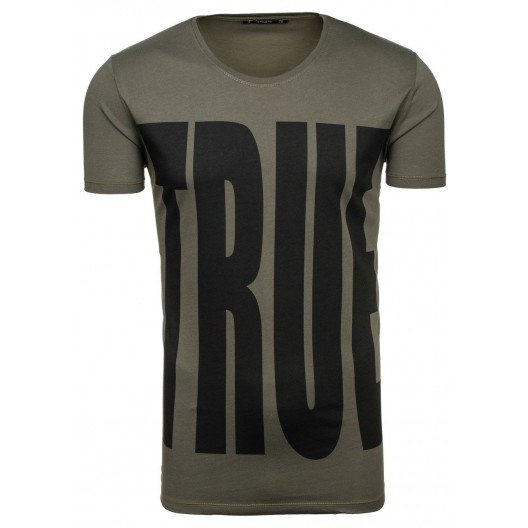 TRUE pánske tričko v tmavozelenej farbe