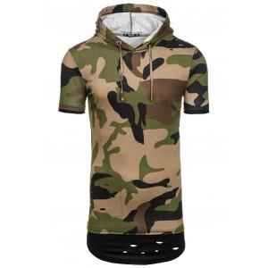 Pánske army tričko krátky rukáv v zelenej farbe