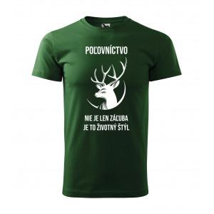 Poľovnícke tričko s krátkym rukávom a originálnou potlačou