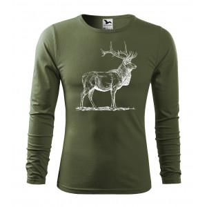Pánske poľovnícke tričko s potlačou